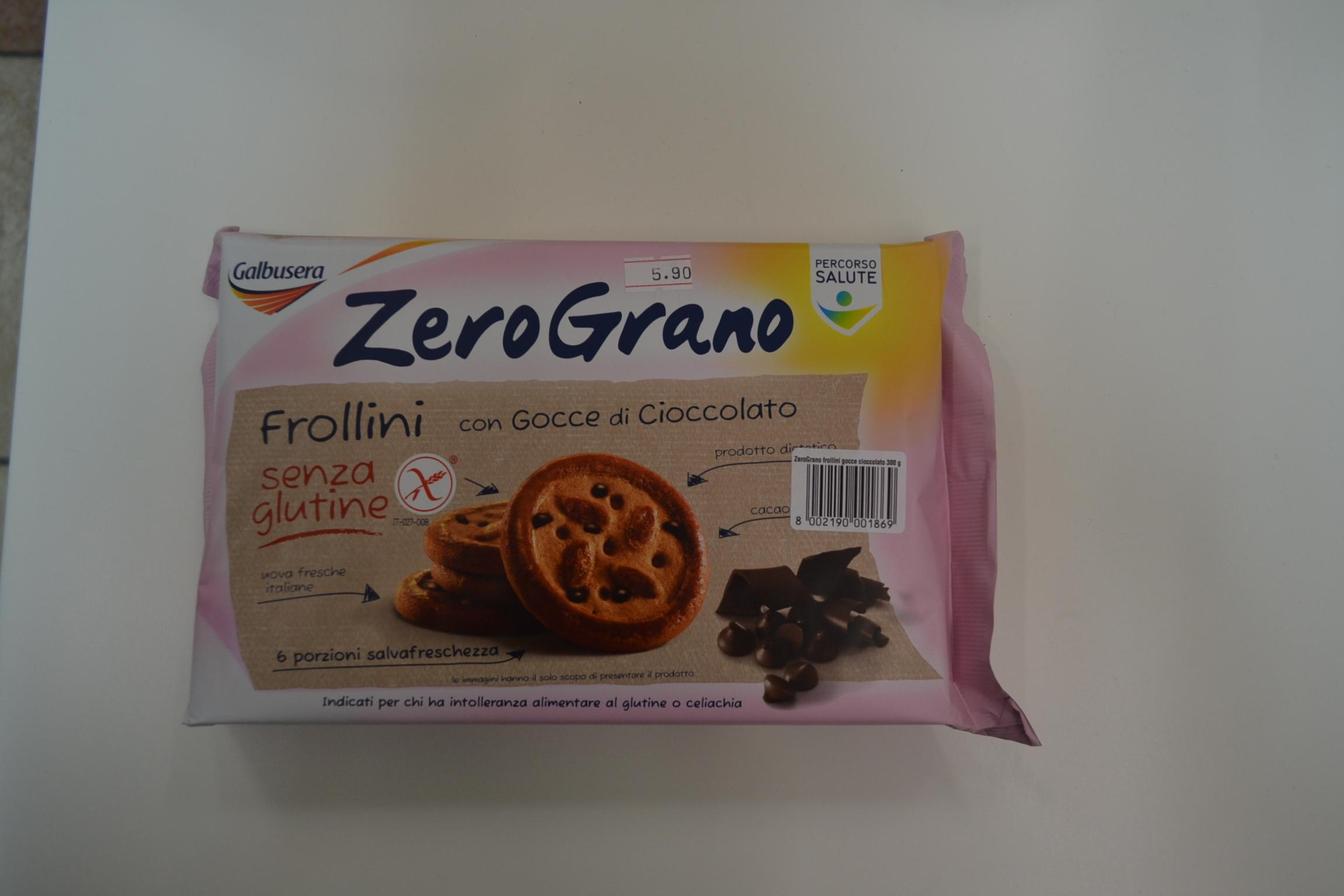 Frollini con gocce di cioccolato GALBUSERA