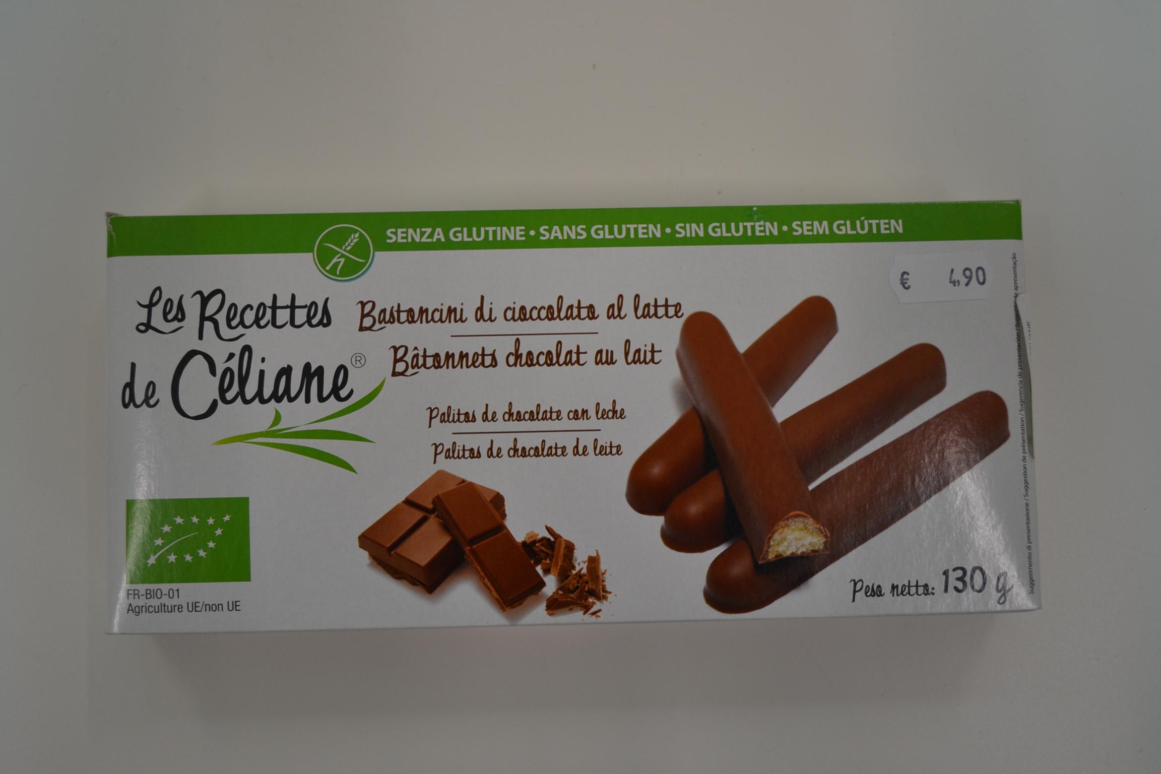 Bastoncini di cioccolato al latte LES RECETTES DE CELIANE