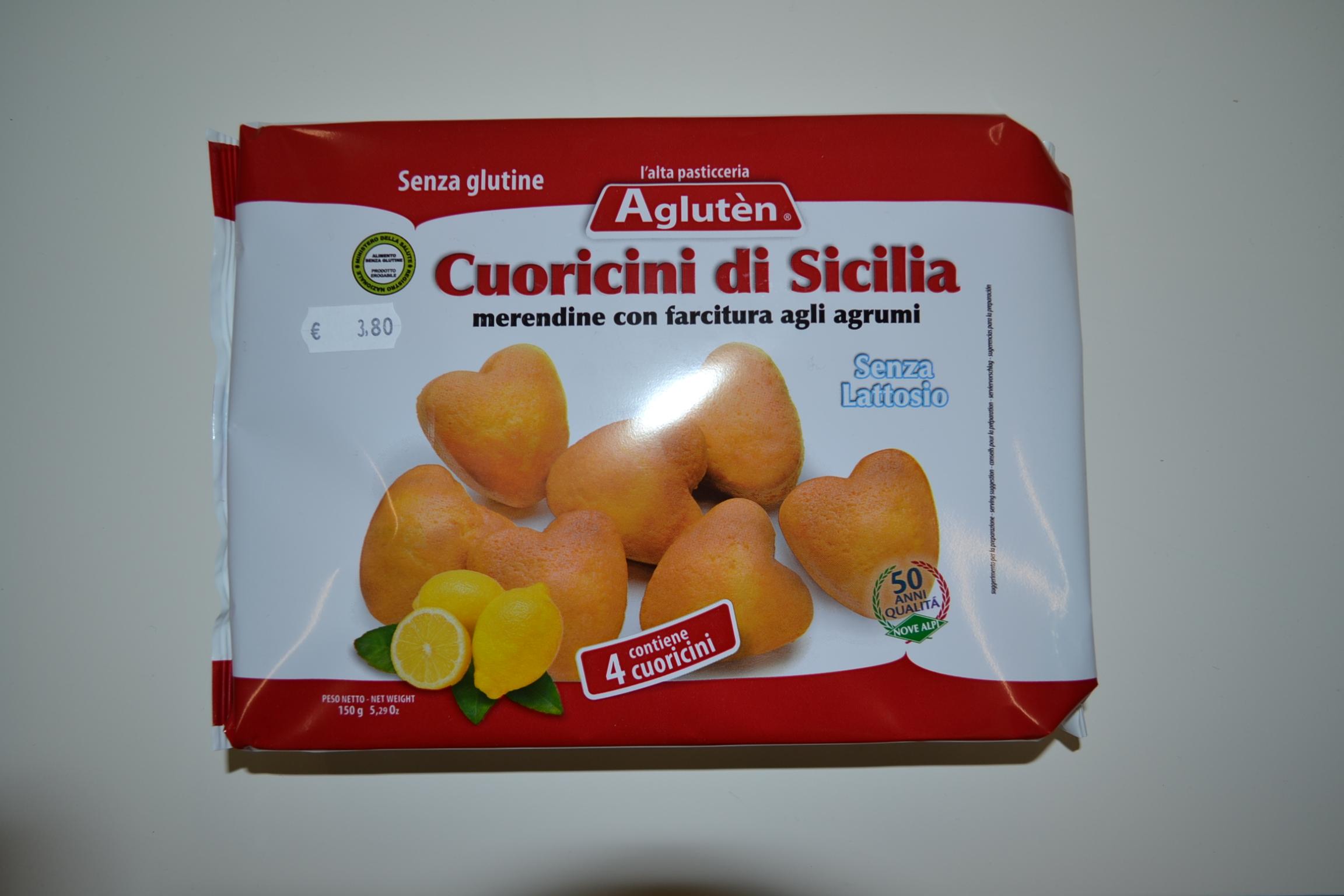 Cuoricini di Sicilia agli agrumi AGLUTEN