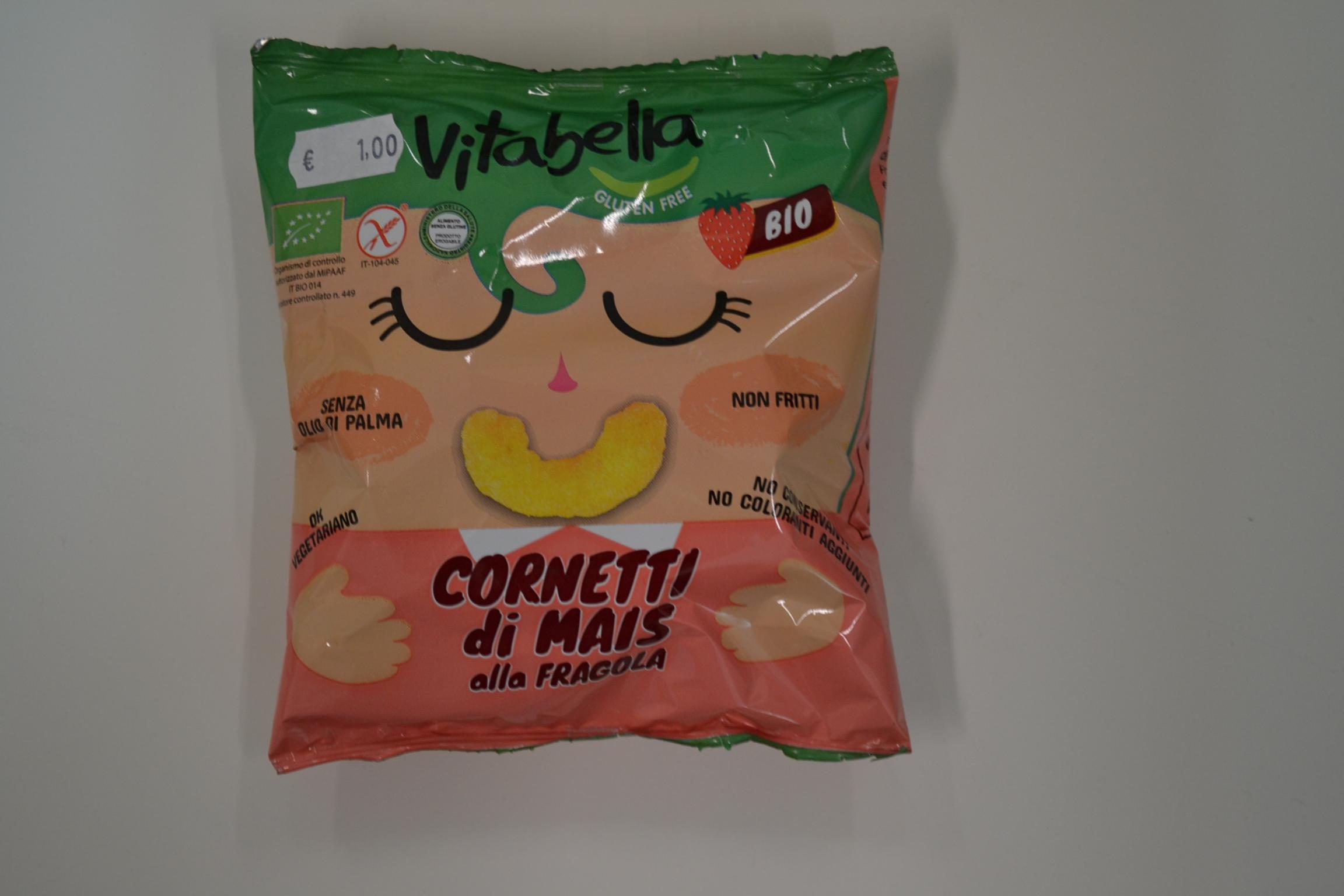 Cornetti di mais alla fragola VITABELLA