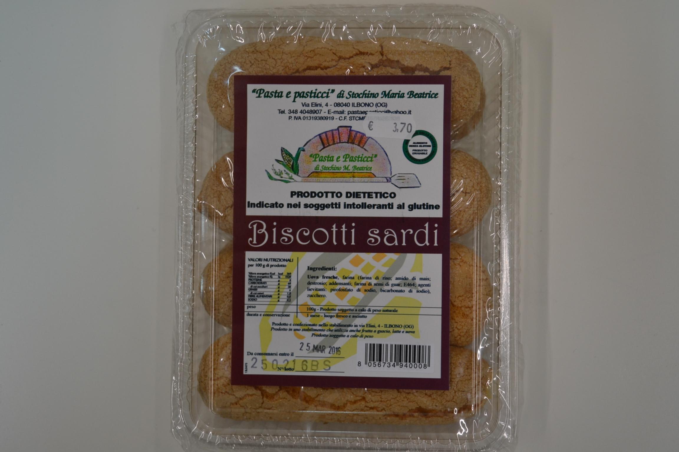 Biscotti sardi PASTA &PASTICCI