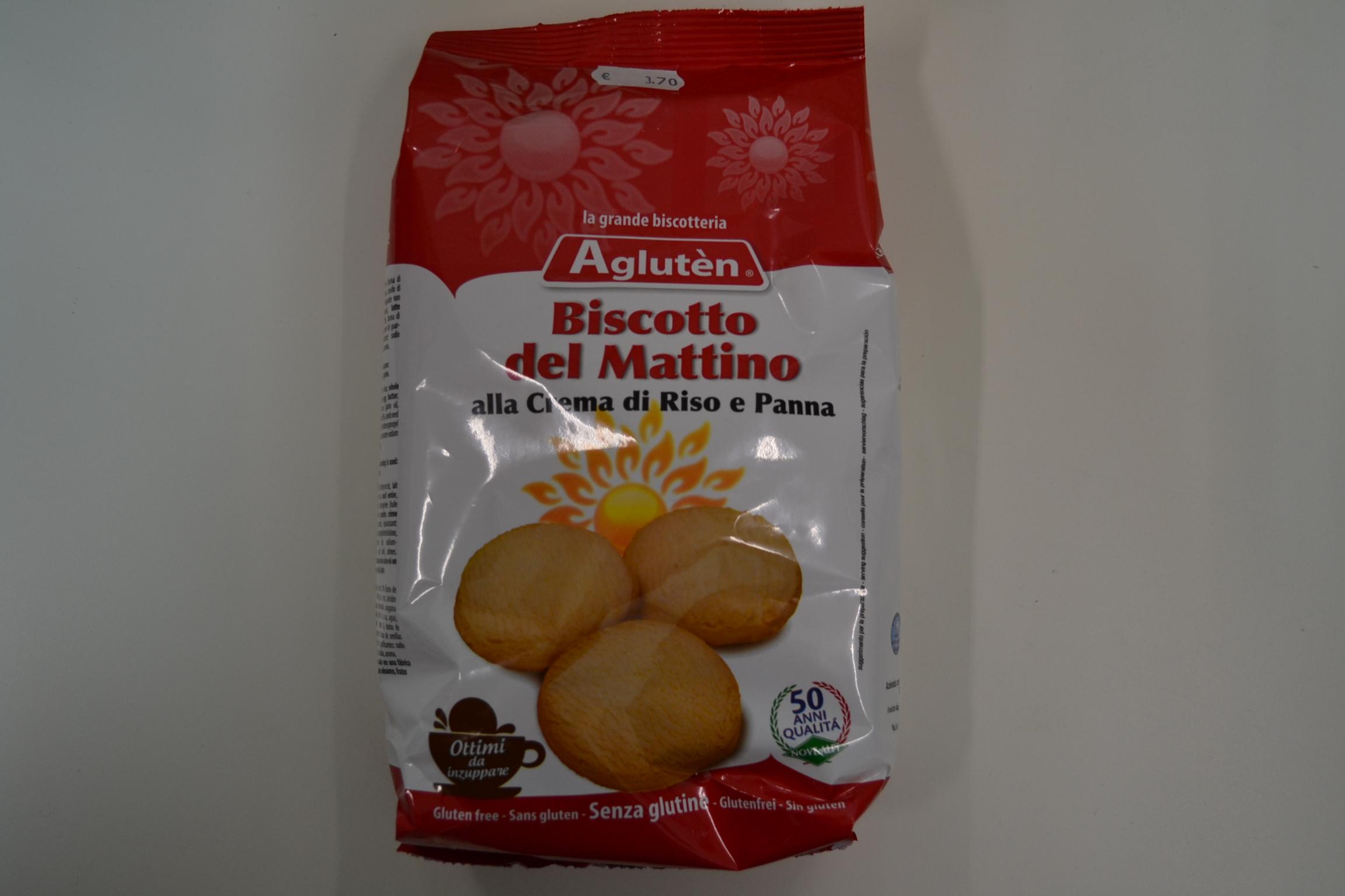 Biscotto del mattino alla crema di riso e panna AGLUTEN