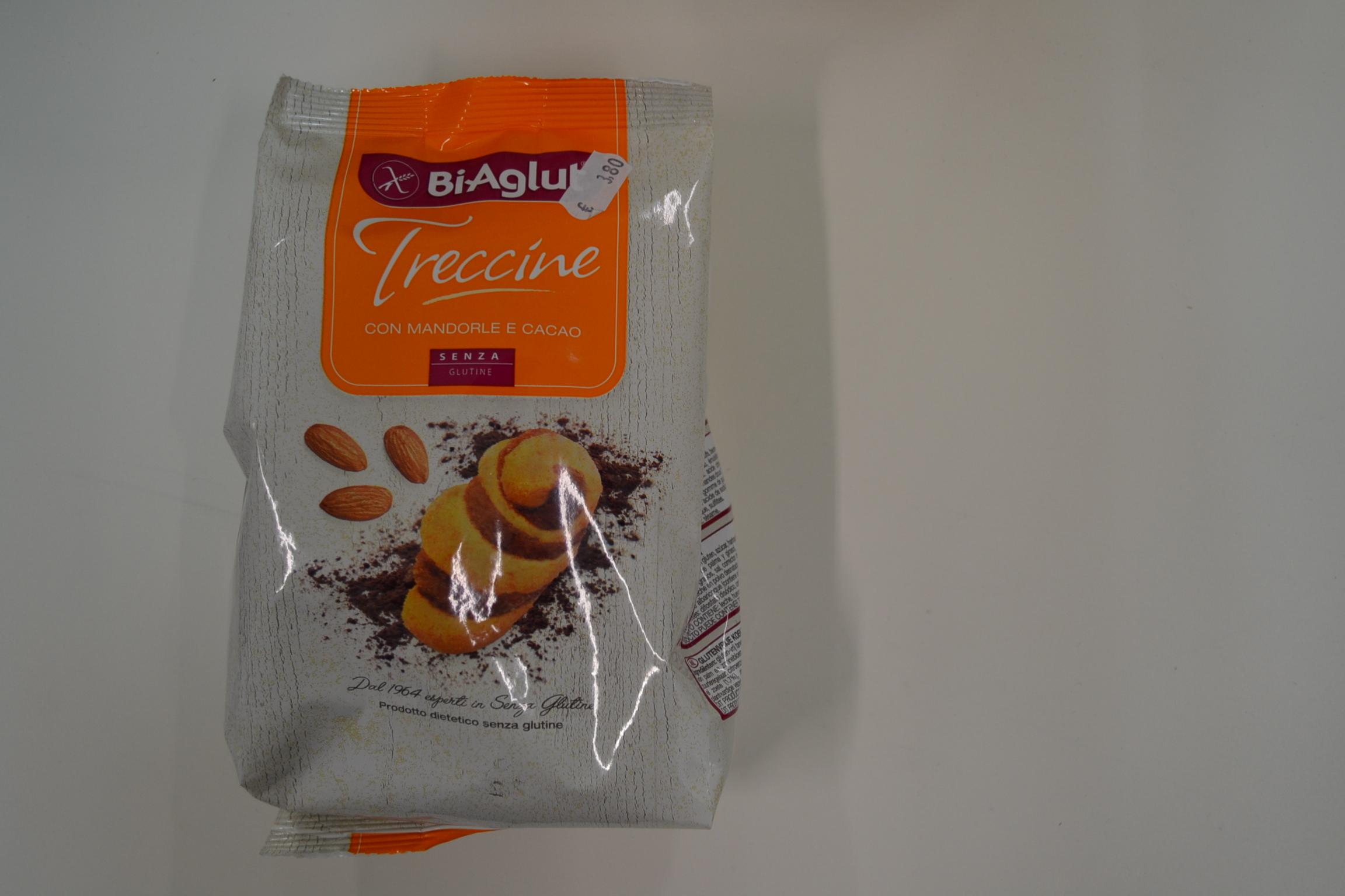 Treccine con mandorle e cacao BIAGLUT