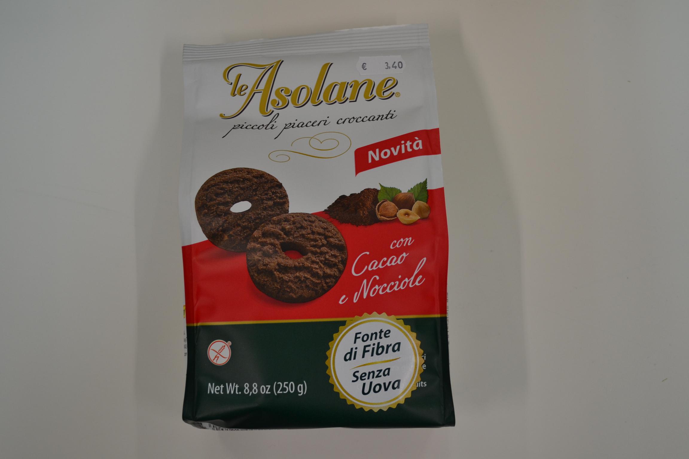 Piccoli piaceri croccanti con cacao e nocciole LE ASOLANE € 3,40
