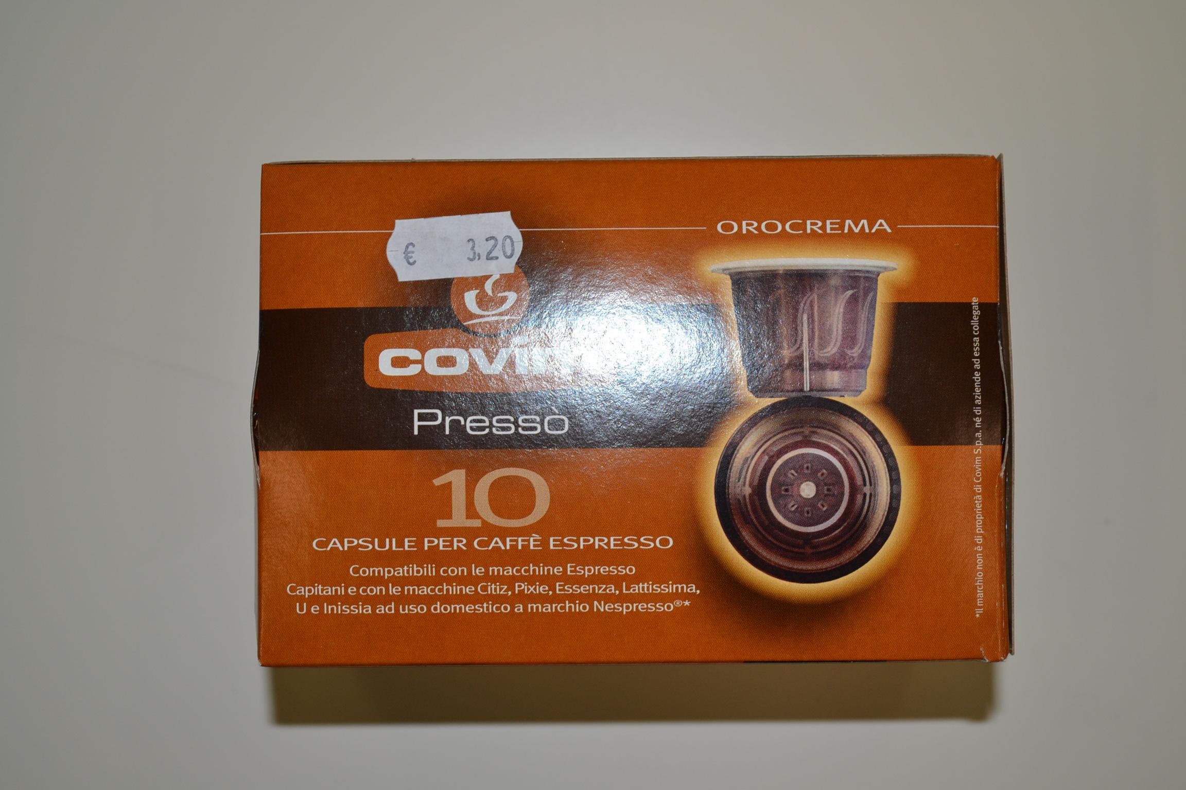 Capsule caffè espresso (compatibili nespresso) COVIM €3,20