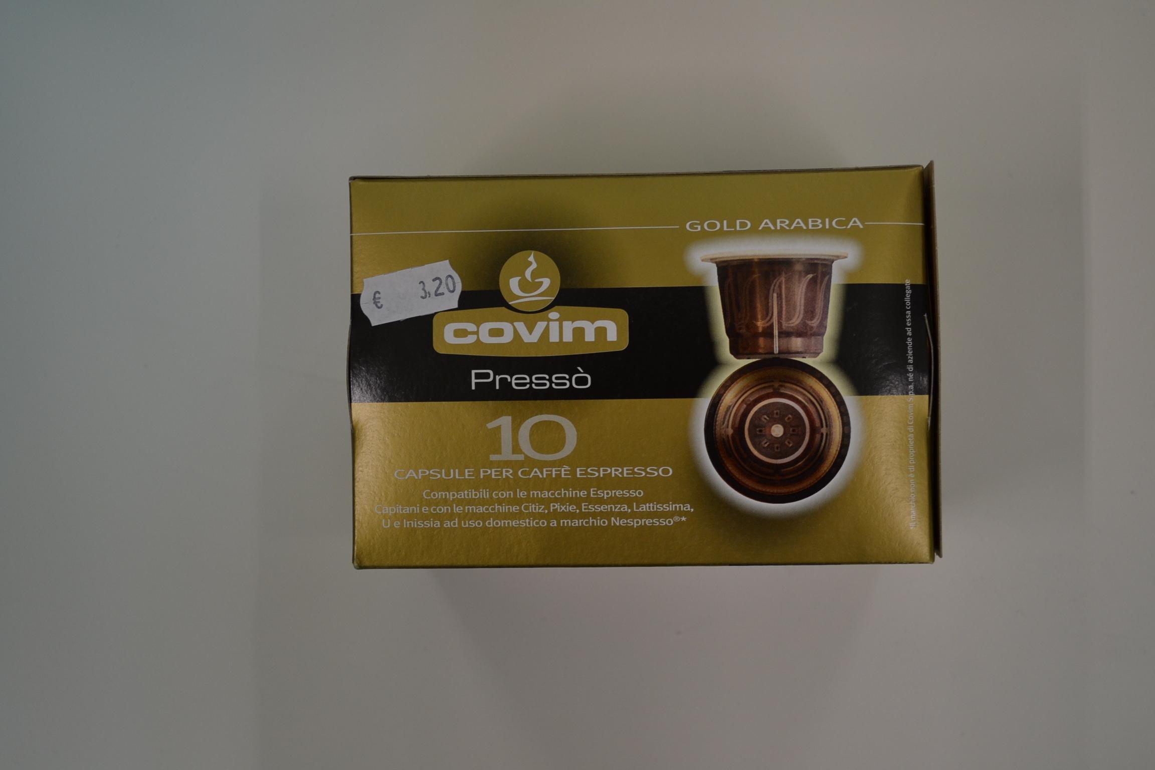 Capsule caffè espresso (compatibile nespresso) COVIM € 3,20