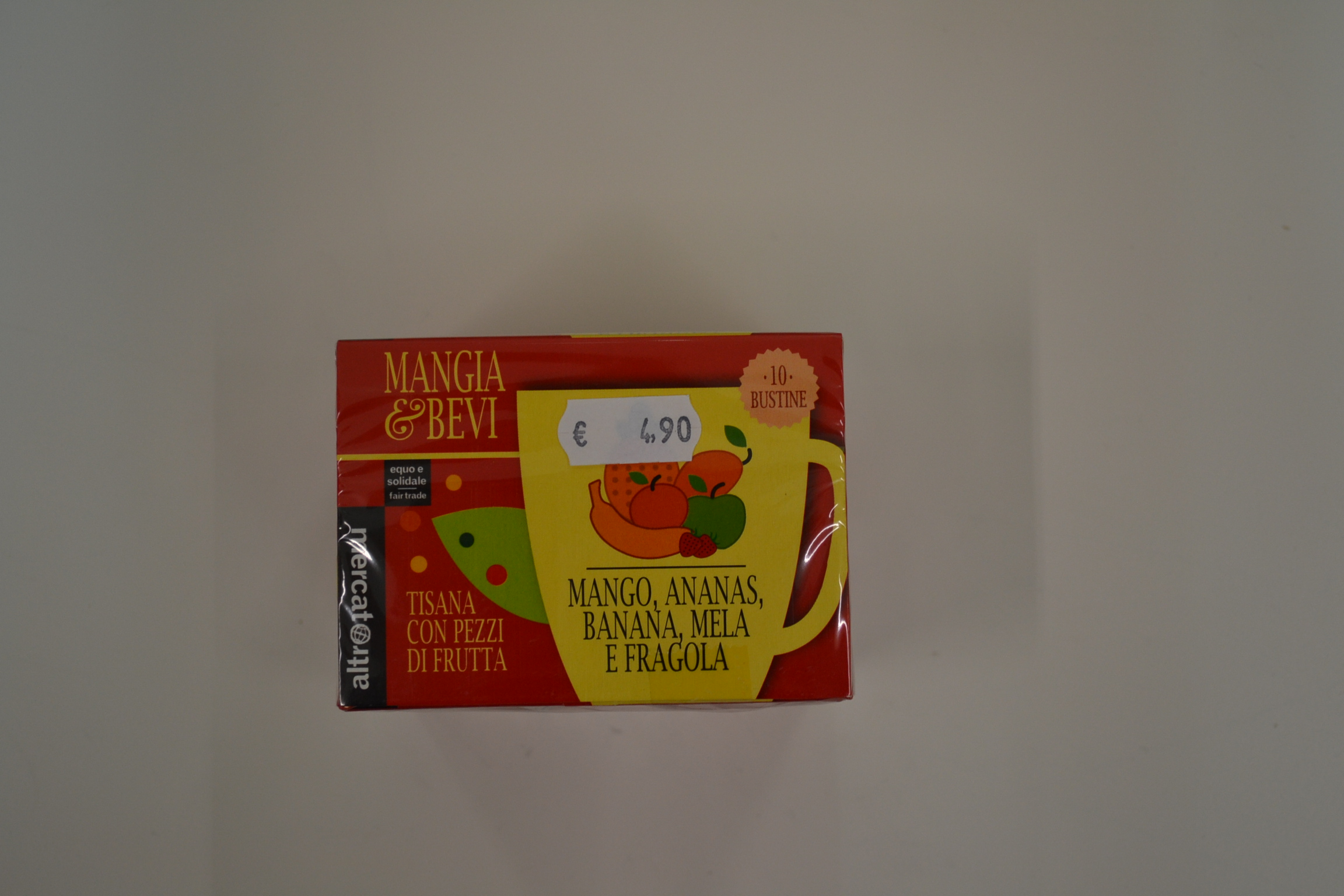 Tisana alla frutta (mango ananas mela banana e fragola)ALTROMERCATO € 4,90