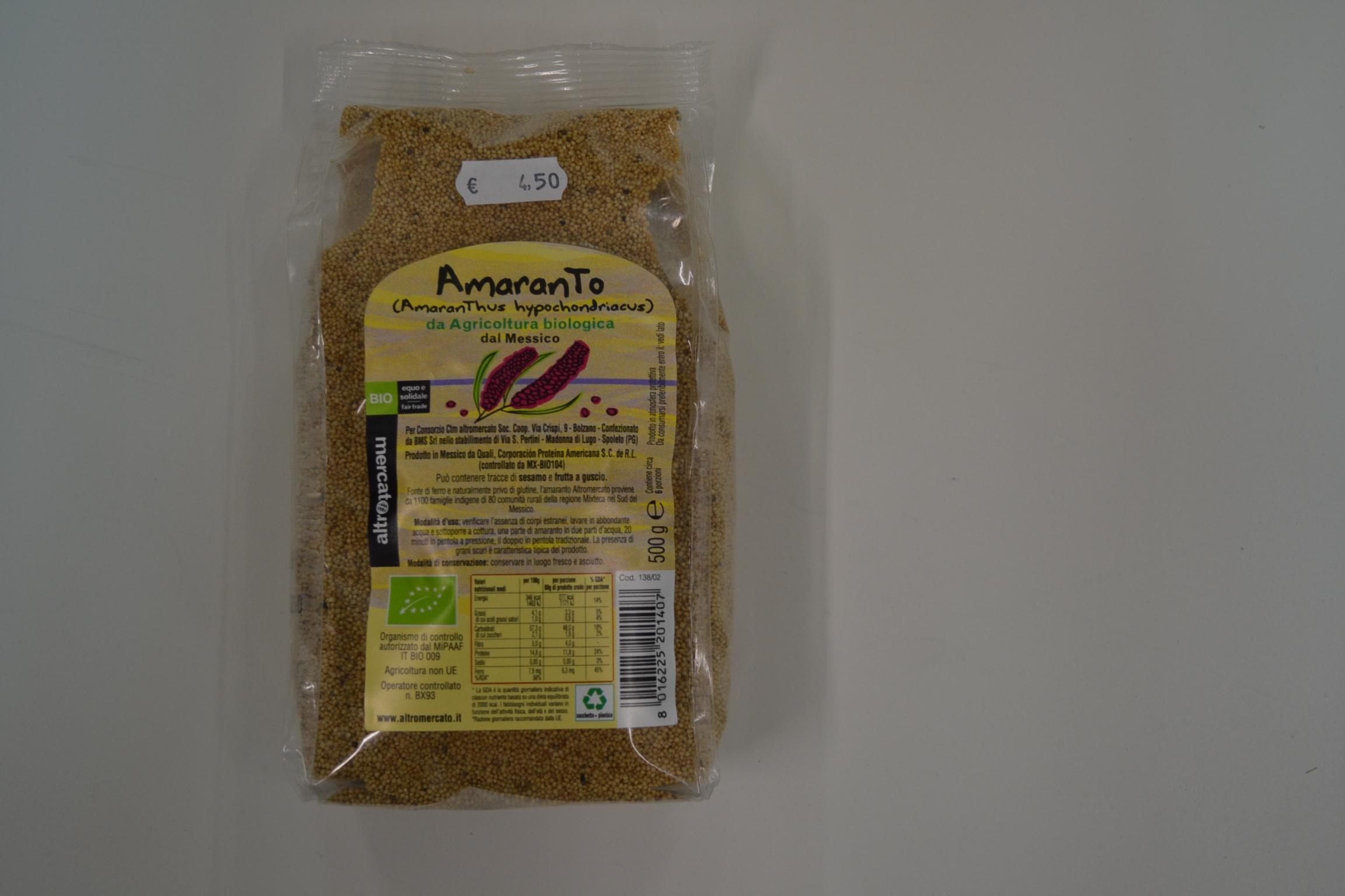 Amaranto ALTROMERCATO € 4,50