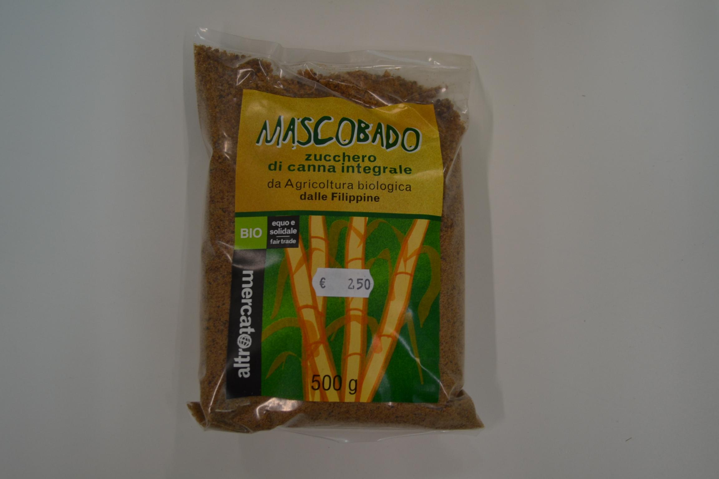 Mascobado zucchero di canna integrale g.500 ALTROMERCATO € 2,50