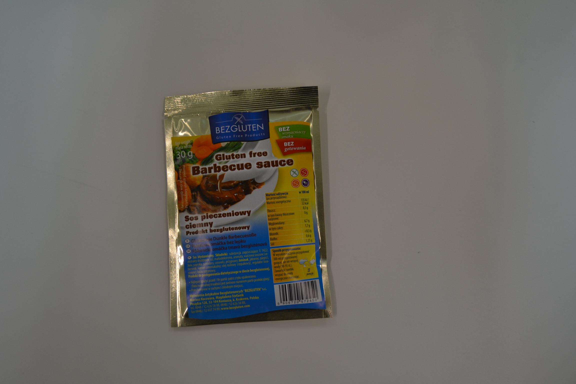 Barbecue sauce BEZGLUTEN € 1,80