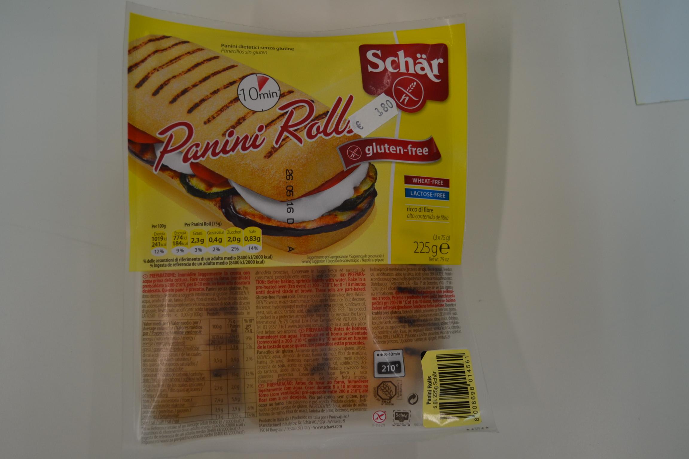 Panini rolls SCHAR € 3,80