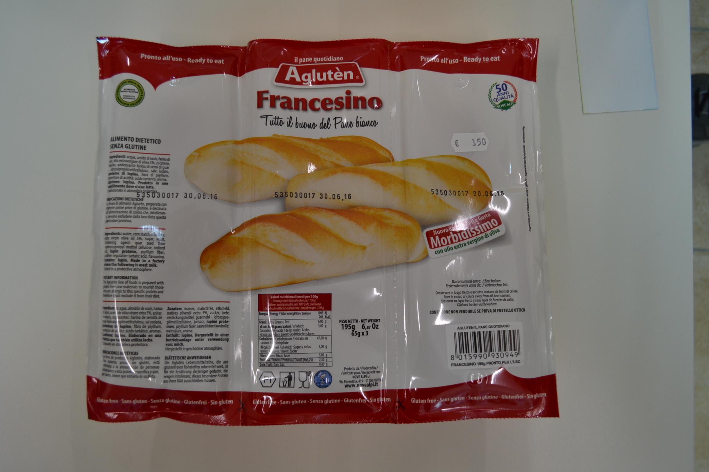 Francesino AGLUTEN € 3,50