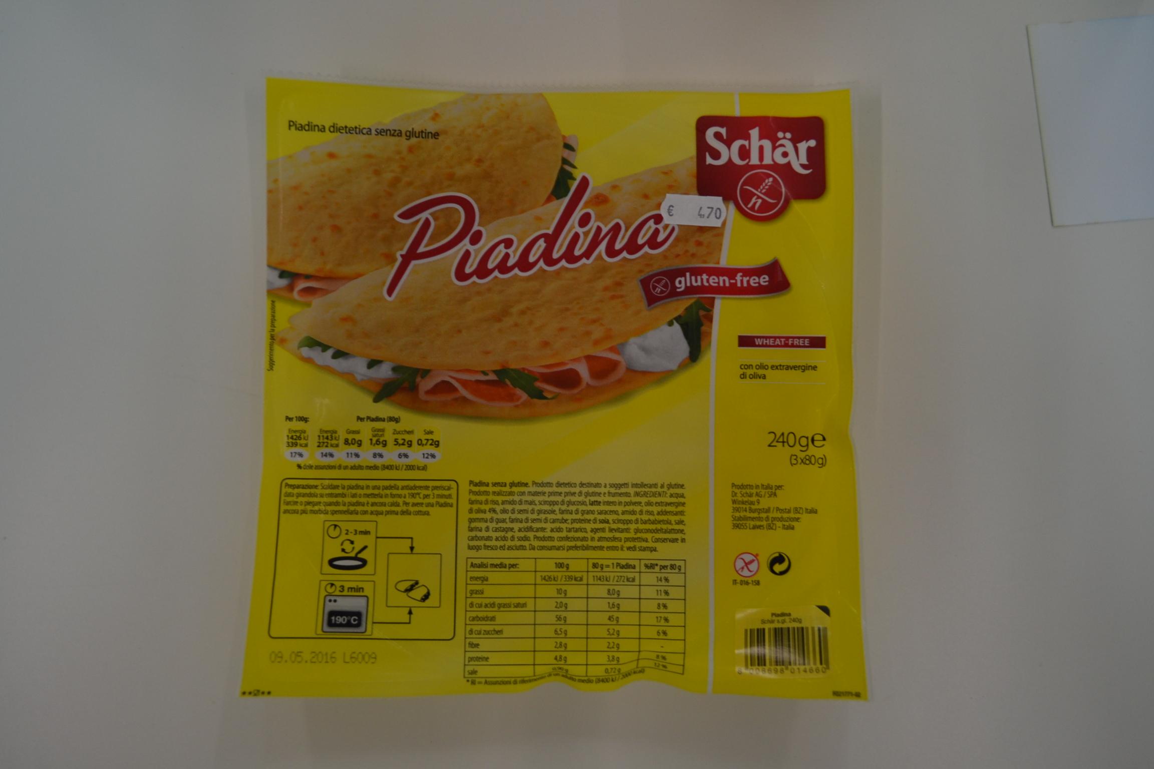 Piadina SCHAR € 4,70