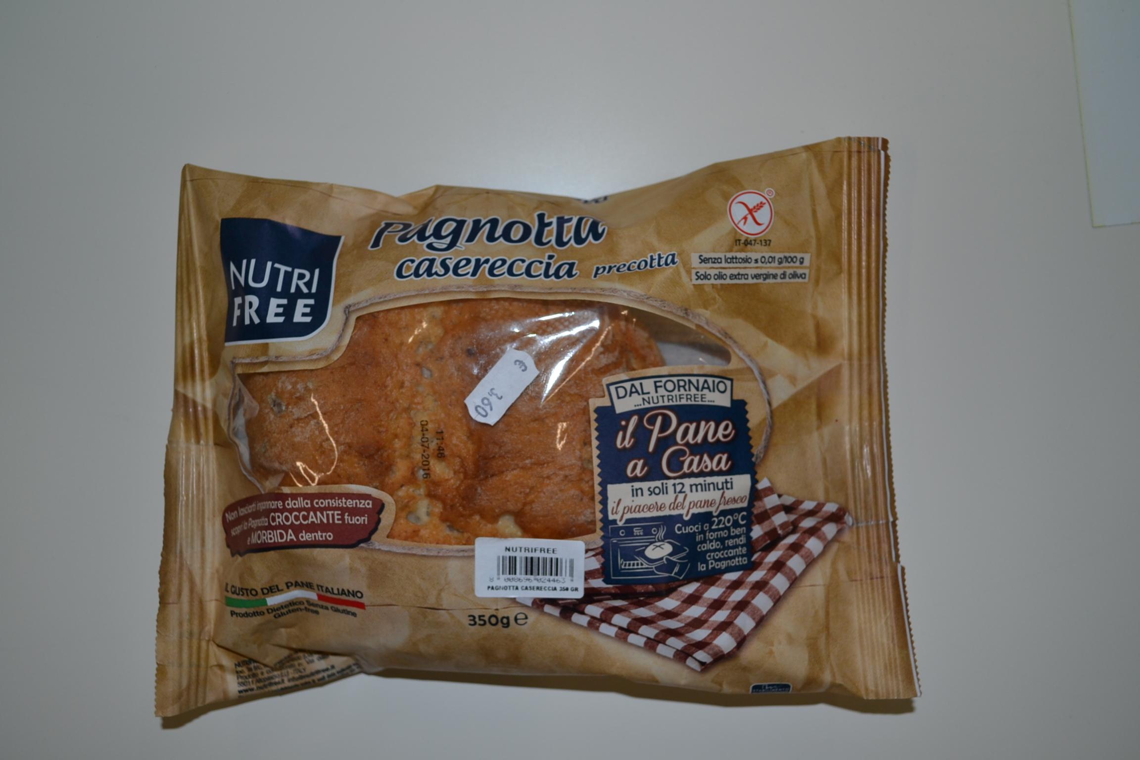 Pagnotta casereccia precotta NUTRIFREE € 3,60