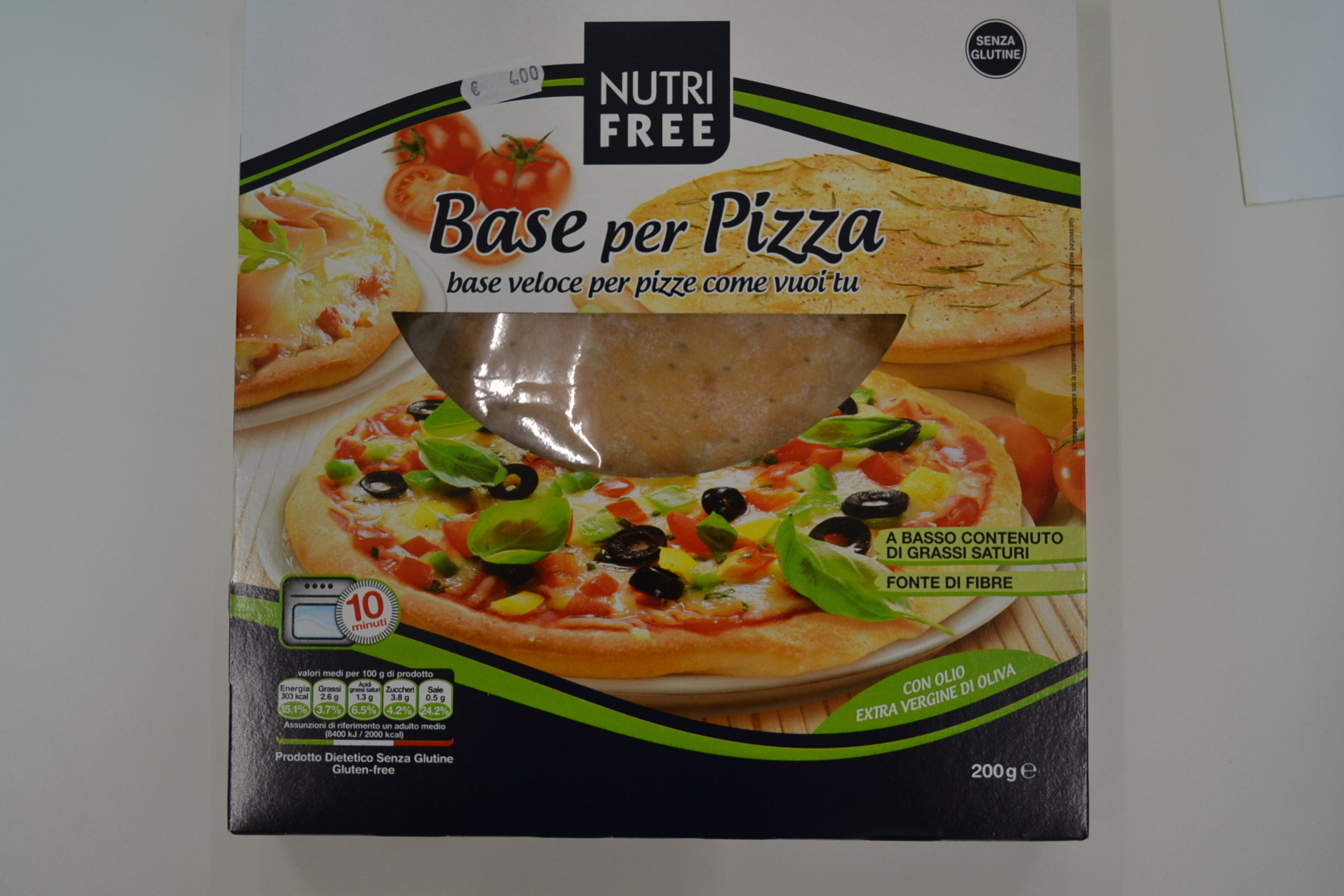 Base per pizza NUTRIFREE € 4,00