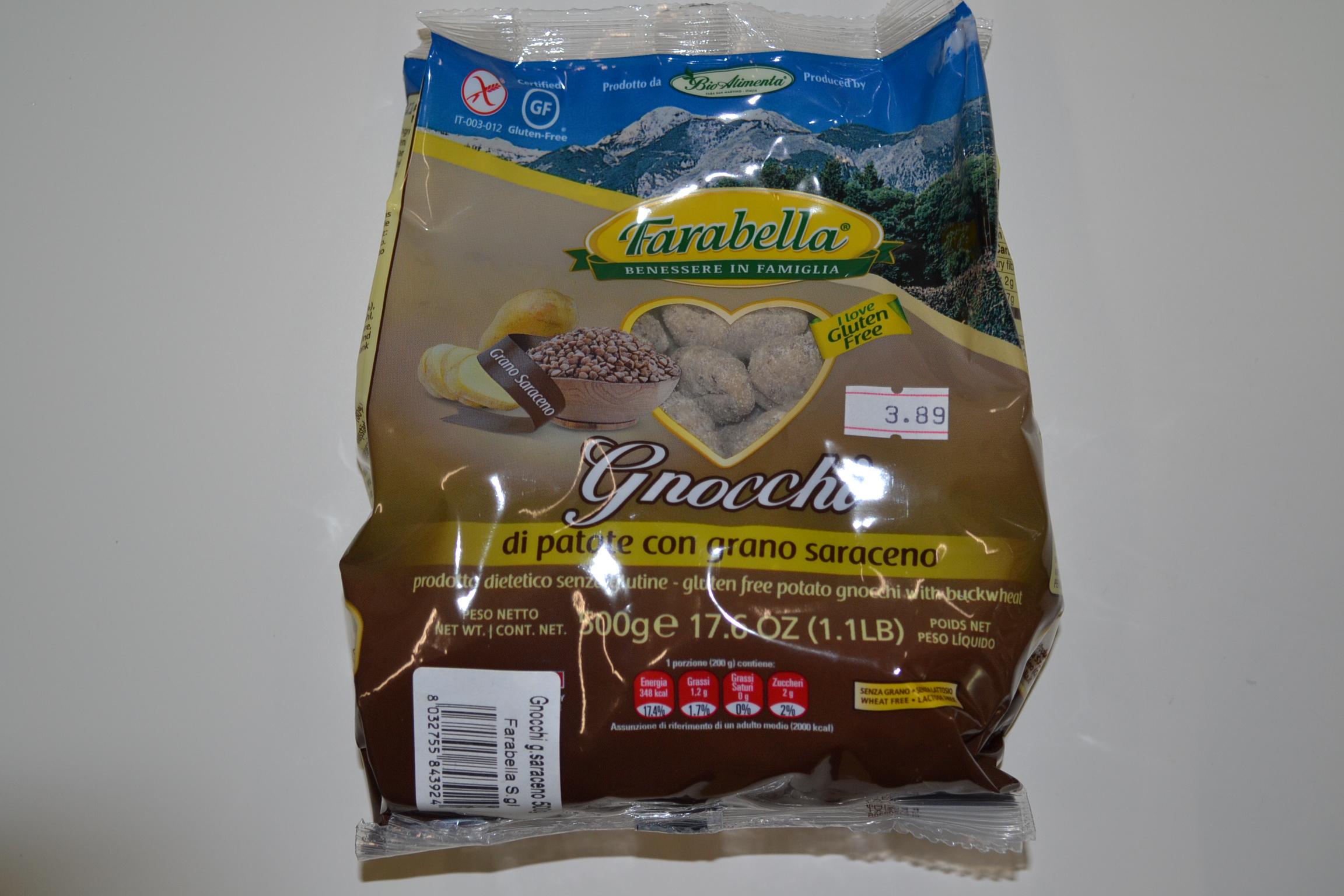Gnocchi di patate con grano saraceno FARABELLA € 3,89
