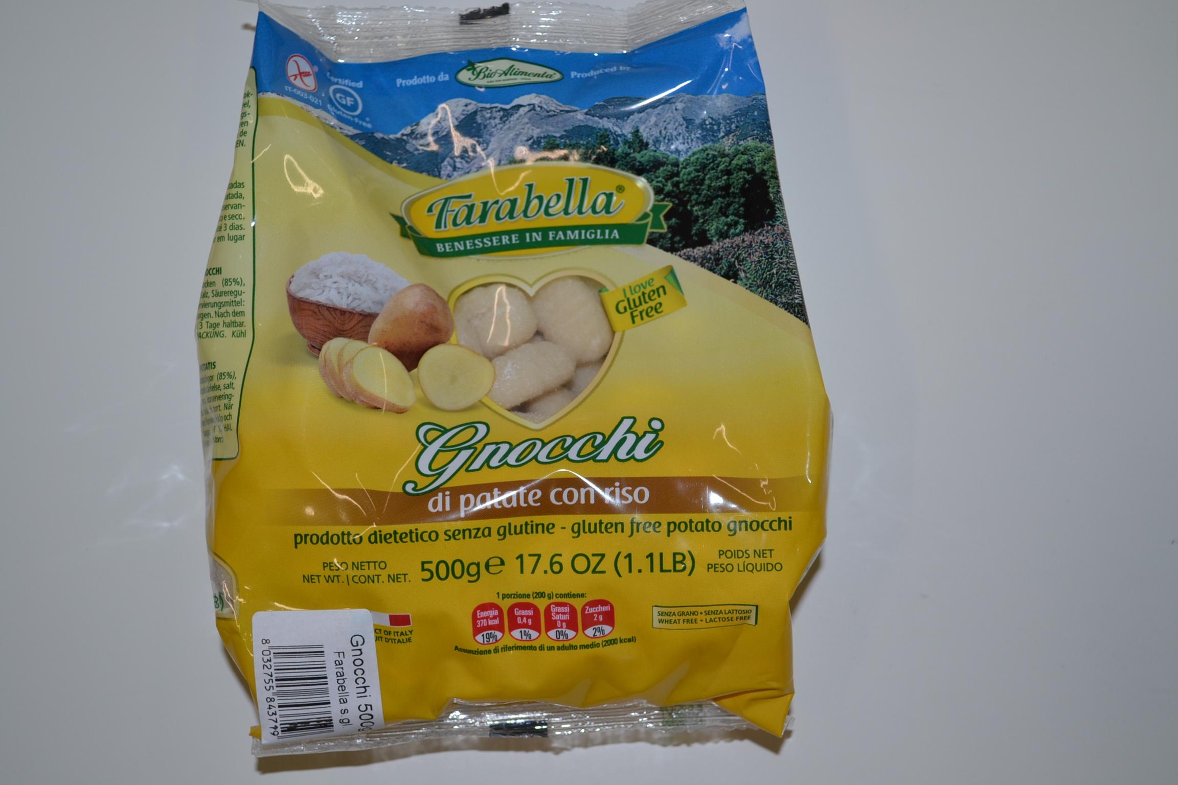 Gnocchi di patate con riso FARABELLA € 3,50