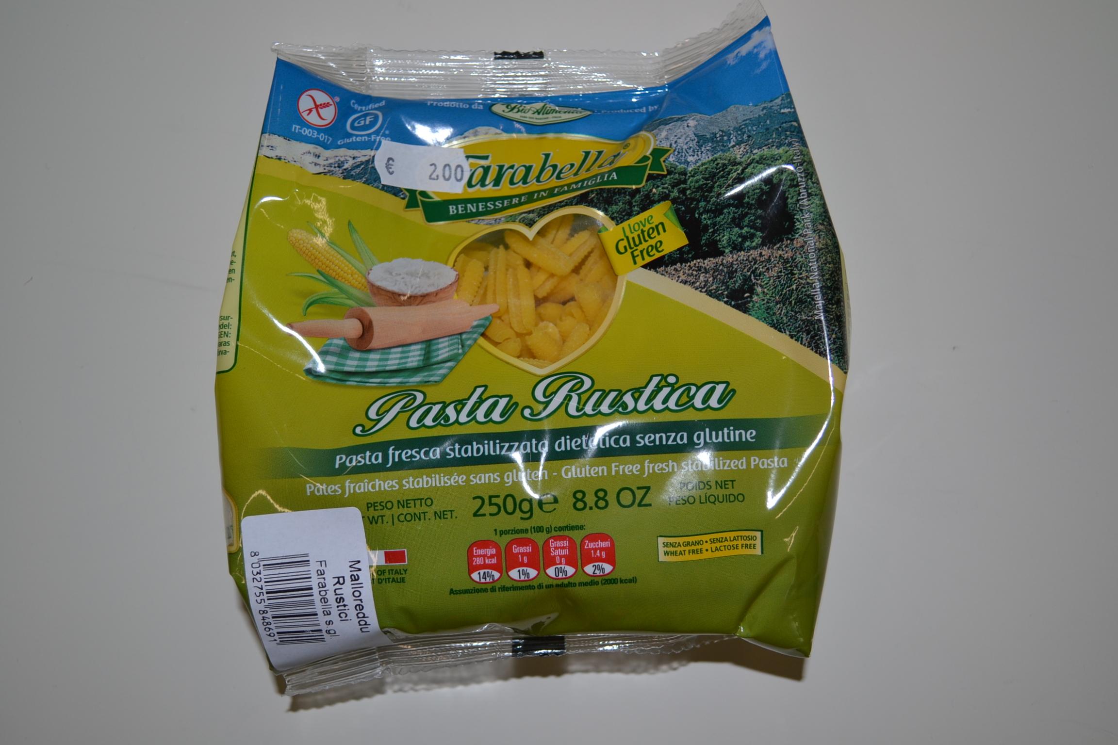 Pasta rustica FARABELLA € 2,00