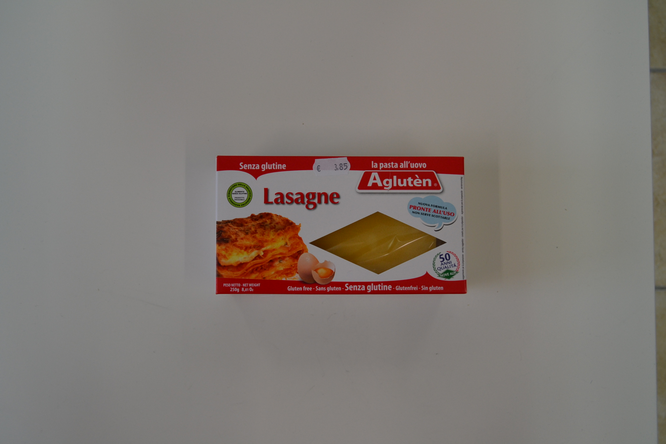 Lasagne all'uovo AGLUTEN € 3,85