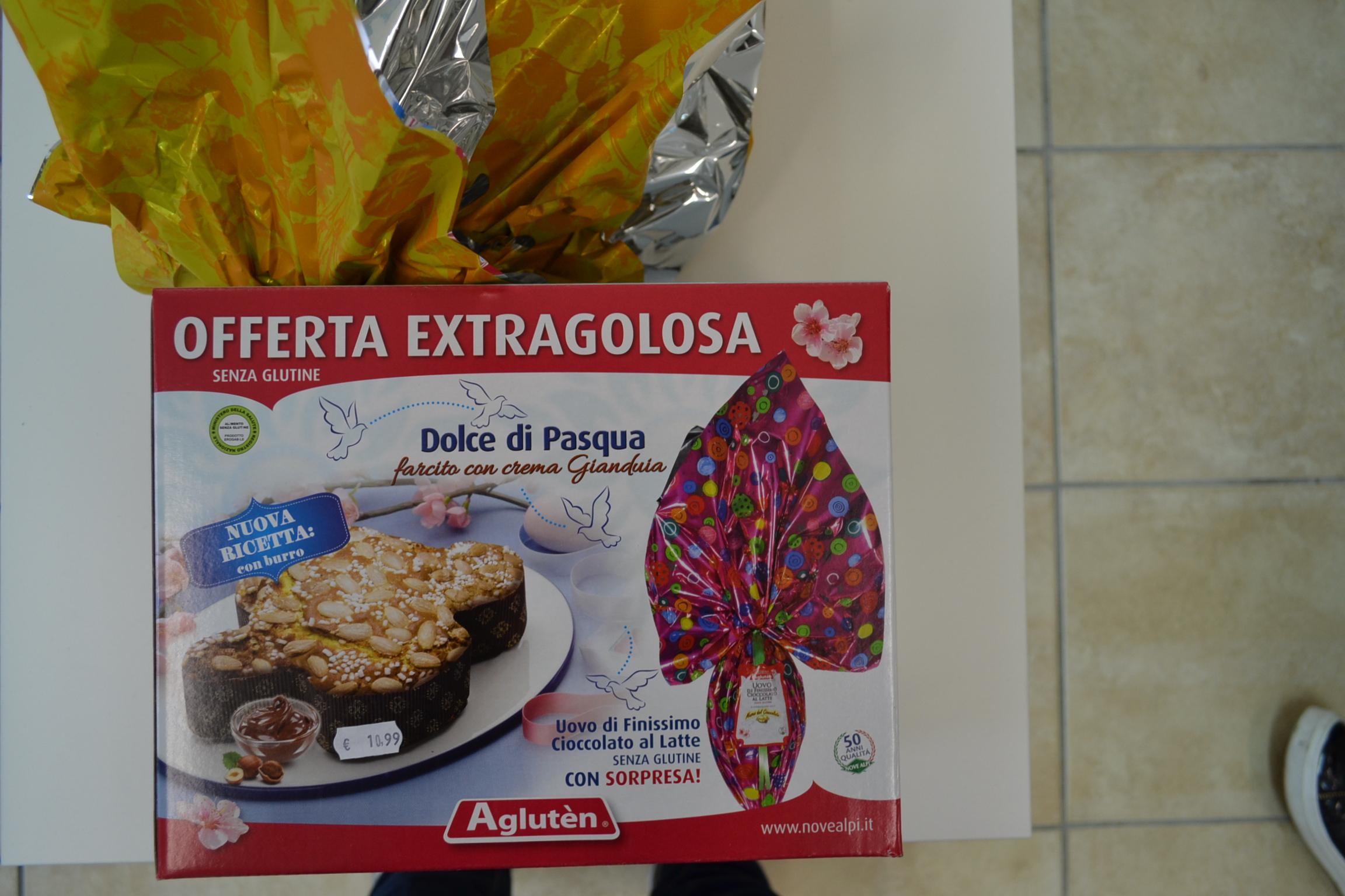 Offerta colomba più uovo di cioccolato AGLUTEN € 10,99